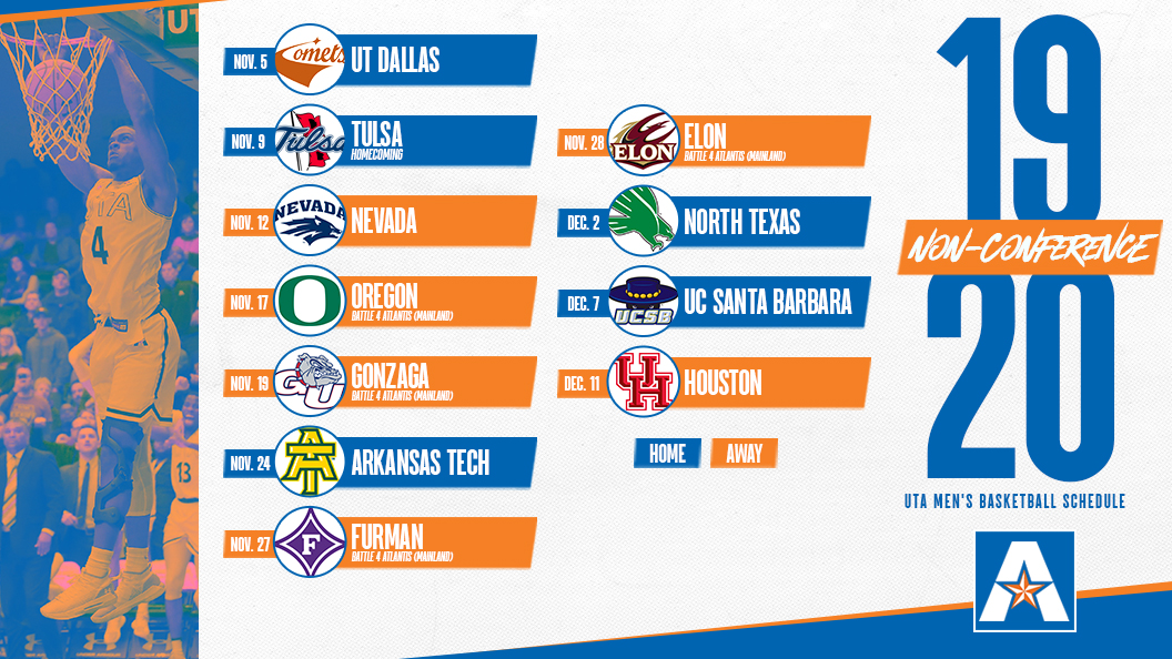 graphic about Unc Basketball Schedule Printable named Mens Basketball - College or university of Texas Arlington Sporting activities